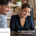 Man and woman using data analytics